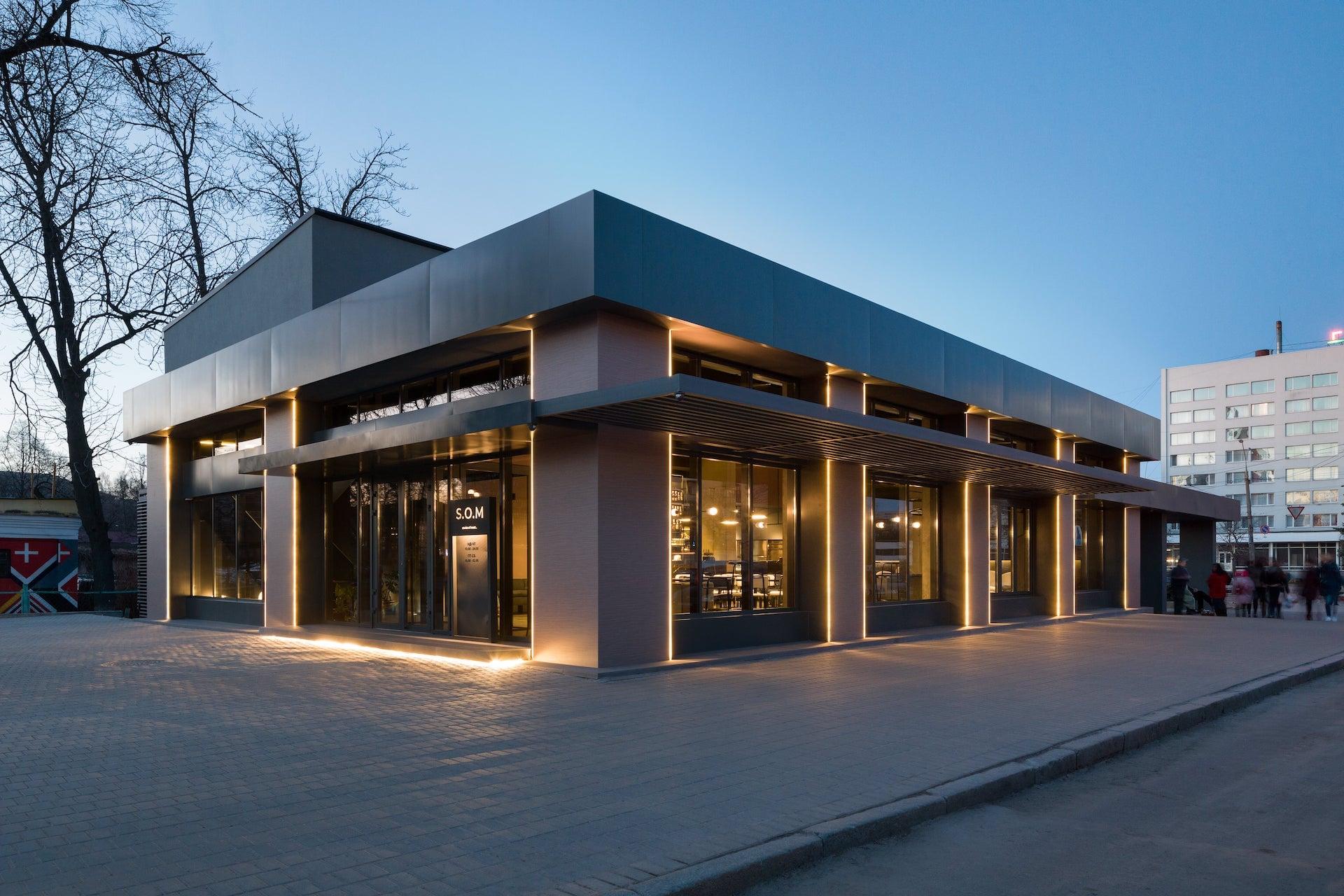 красивые фасады одноэтажных магазинов фото купить модульную